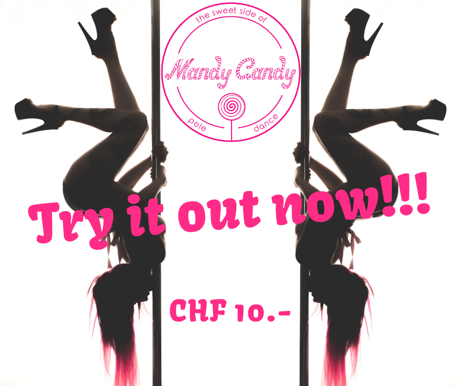 Come and try out pole dance on February 19th & 26th ! Mandy Candy's Pole Dance Studio