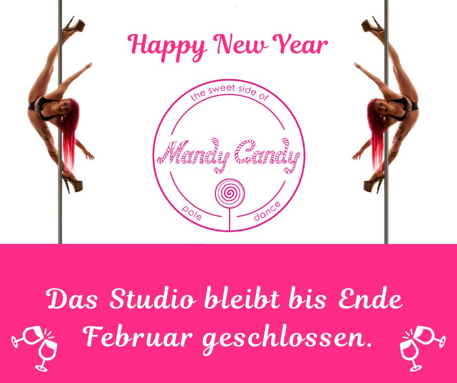 Frohes neues Jahr wünscht Mandy Candy's Pole Dance Studio