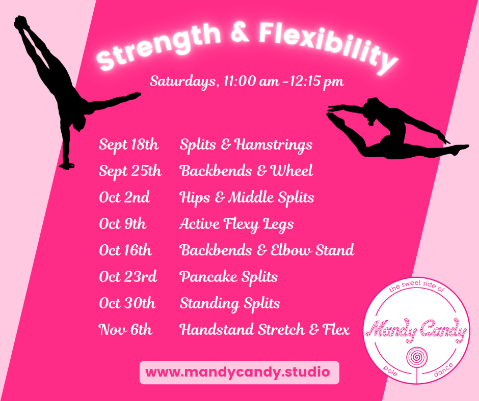 New class for strength and flexibility at Mandy Candy's Pole Dance Studio